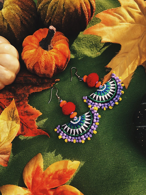 Hmong beads earring