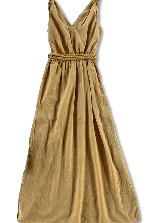 Braided lights cotton dress