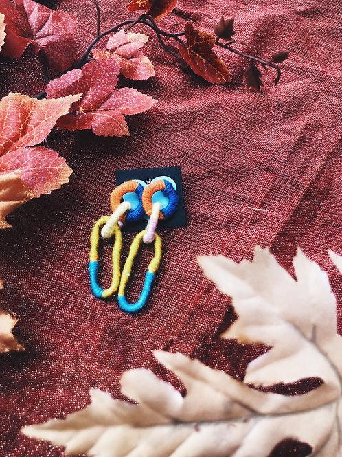 Happy chain earrings