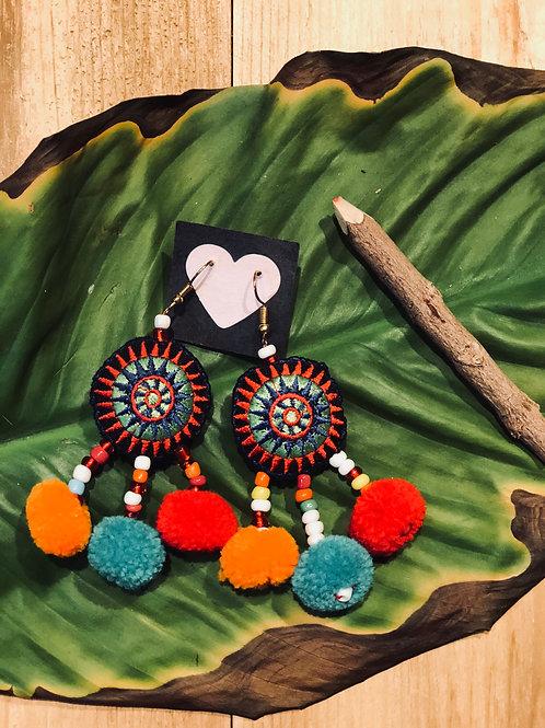 Hmong pom earing