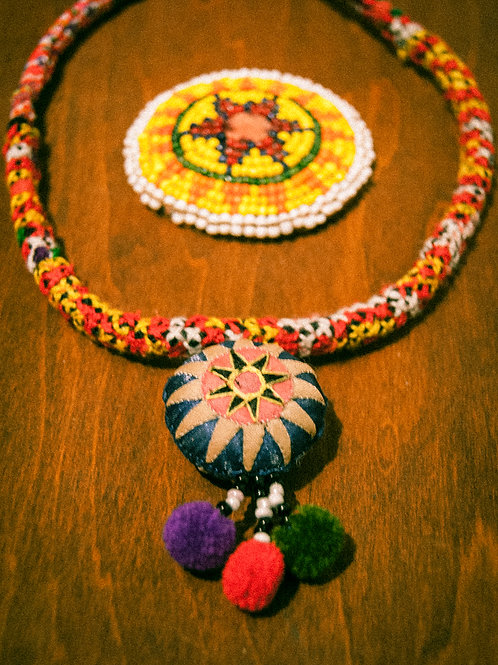 HMONG embroidery neckless