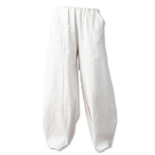 Wide leg cotton pant