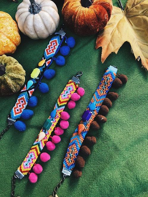 Festive Pom Pom bracelet