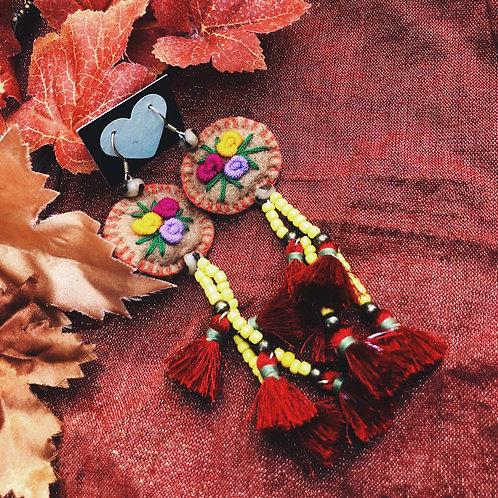 Hand stitch bead Tassel