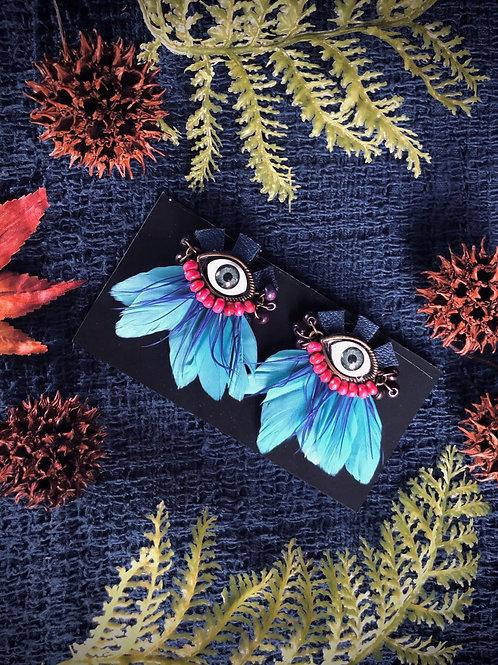 Bird eye 👁 earrings