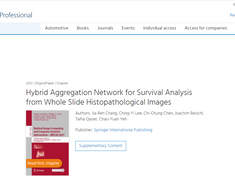 The latest study is published, proposing HANet for Survival Analysis from WSls Images