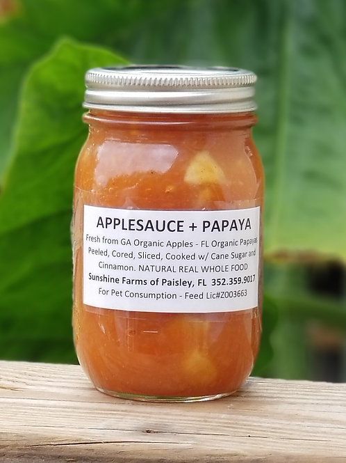 APPLESAUCE / PAPAYA Chunky- 16oz Pint Homecanned