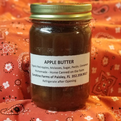 APPLE BUTTER - 14oz From Organic Apples