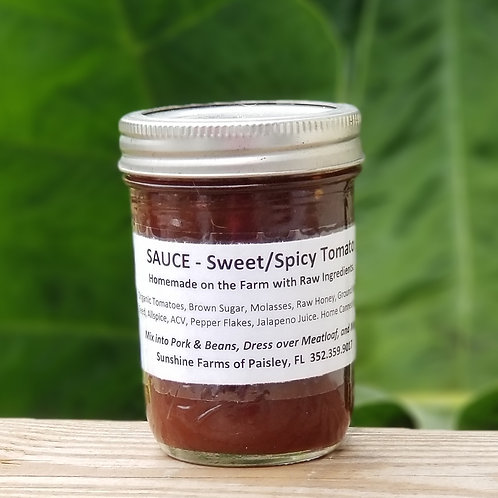 BBQ Style Sweet/Spicy SAUCE -Ready to Use Starter - 8oz Jar