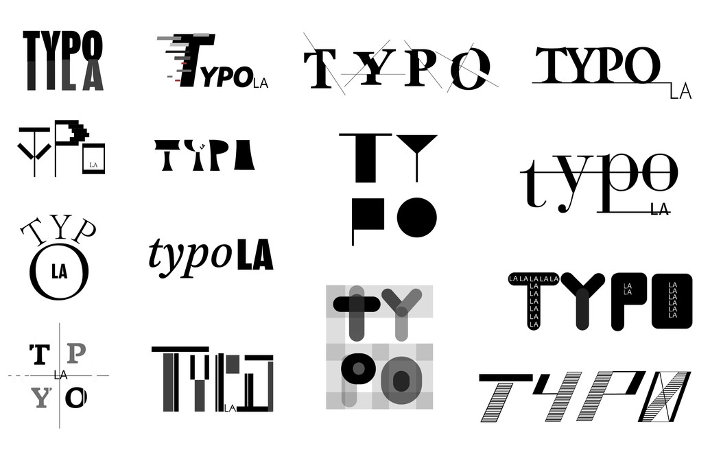 TYPO LA Wordmarks