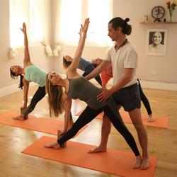 teaching yoga asanas