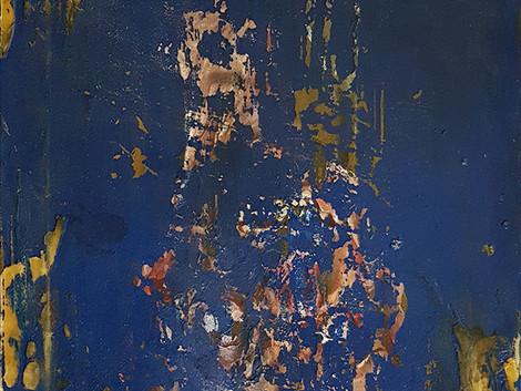 Untitled (Blau mit wachs)