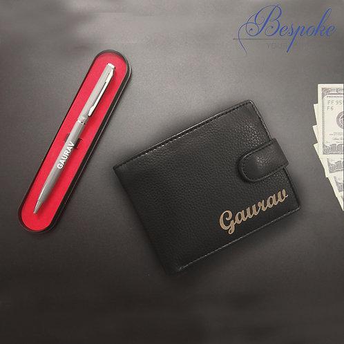 Personalised Mens engraved Wallet