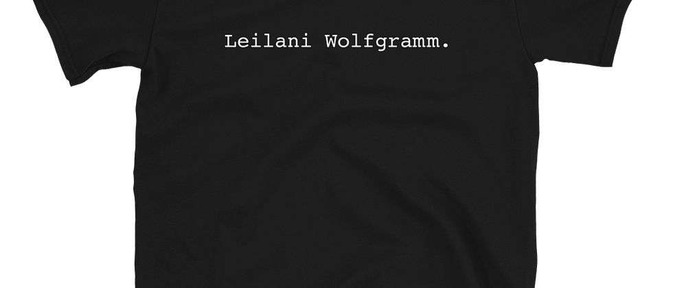 "LEILANIE ""TYPE"" Short-Sleeve Unisex T-Shirt"