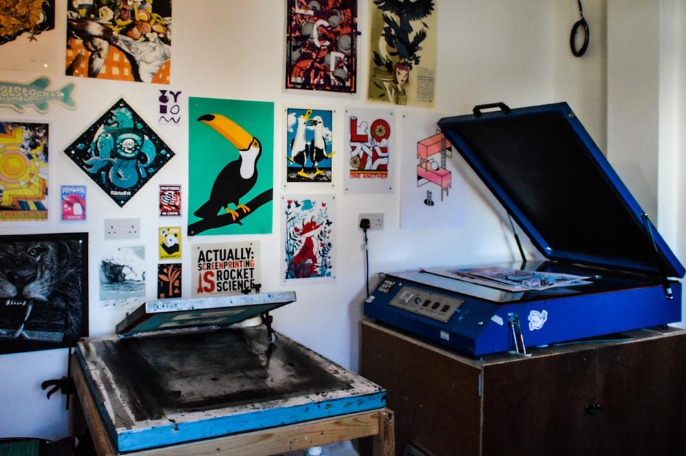 SUP's print studio.