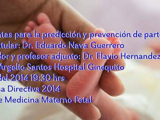Sesion Prevención parto pretermino en Hospital Ginequito