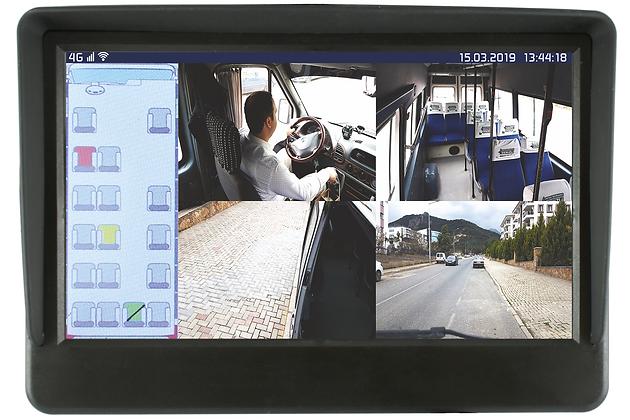 4 KANAL AHD 4G-GPS 9'' SMART MONITOR