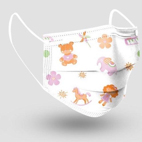10 Máscaras Cirúrgica infantil estampada pacote