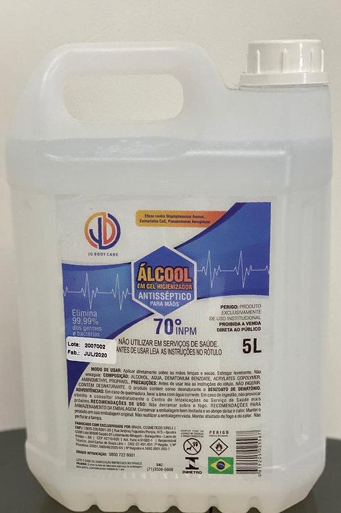 5 litros Álcool Gel hospitalar  70%
