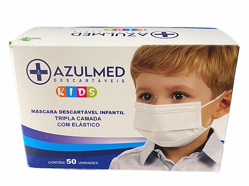 Máscaras cirúrgicas infantil Azul MED