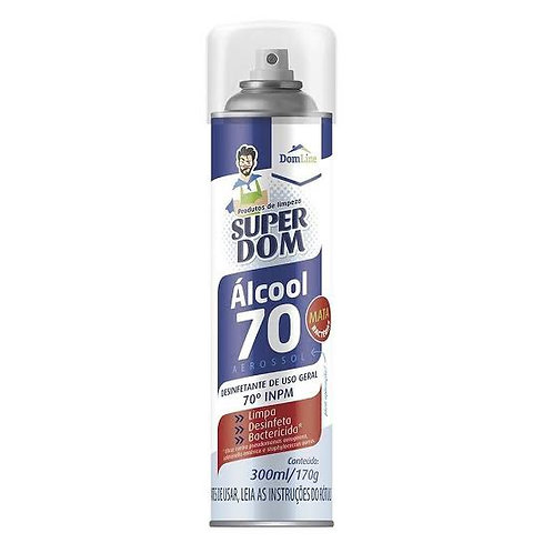 Álcool Spray Super Dom