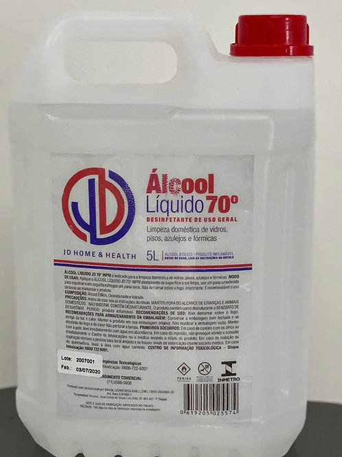 5 litros álcool Hospitalar 70% líquido