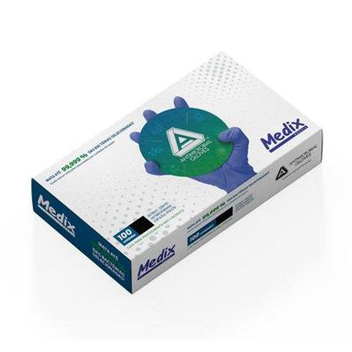 Luva Nitrilica antimicrobiana Medix Brasil - Caixa com 100 un