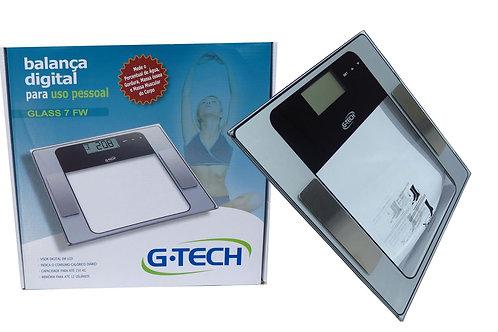 Balança Corporal Digital G-tech Glass 7 Fw Transparente - GTECH