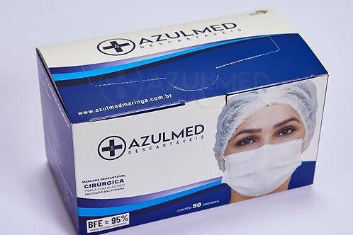 Máscara cirúrgica tripla ANVISA AZULMED