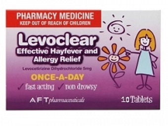 Levoclear Allergy and Hayfever tabs 10s