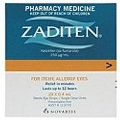 Zaditen Single Use eye drops