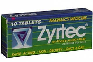 Zyrtec 10mg tablets 10's