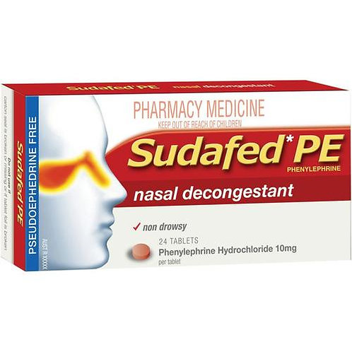 Sudafed PE decongestant 24s