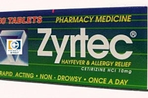 Zyrtec 10mg tablets 30's