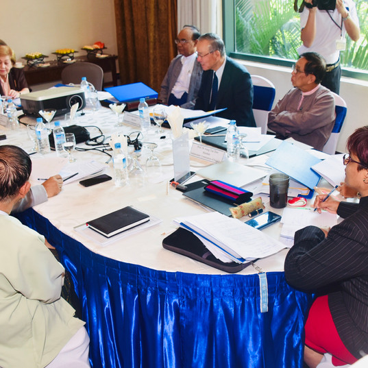 ICOE's working session with U Win Mra, Chairperson of the Myanmar National Human Rights Commission (MNHRC)