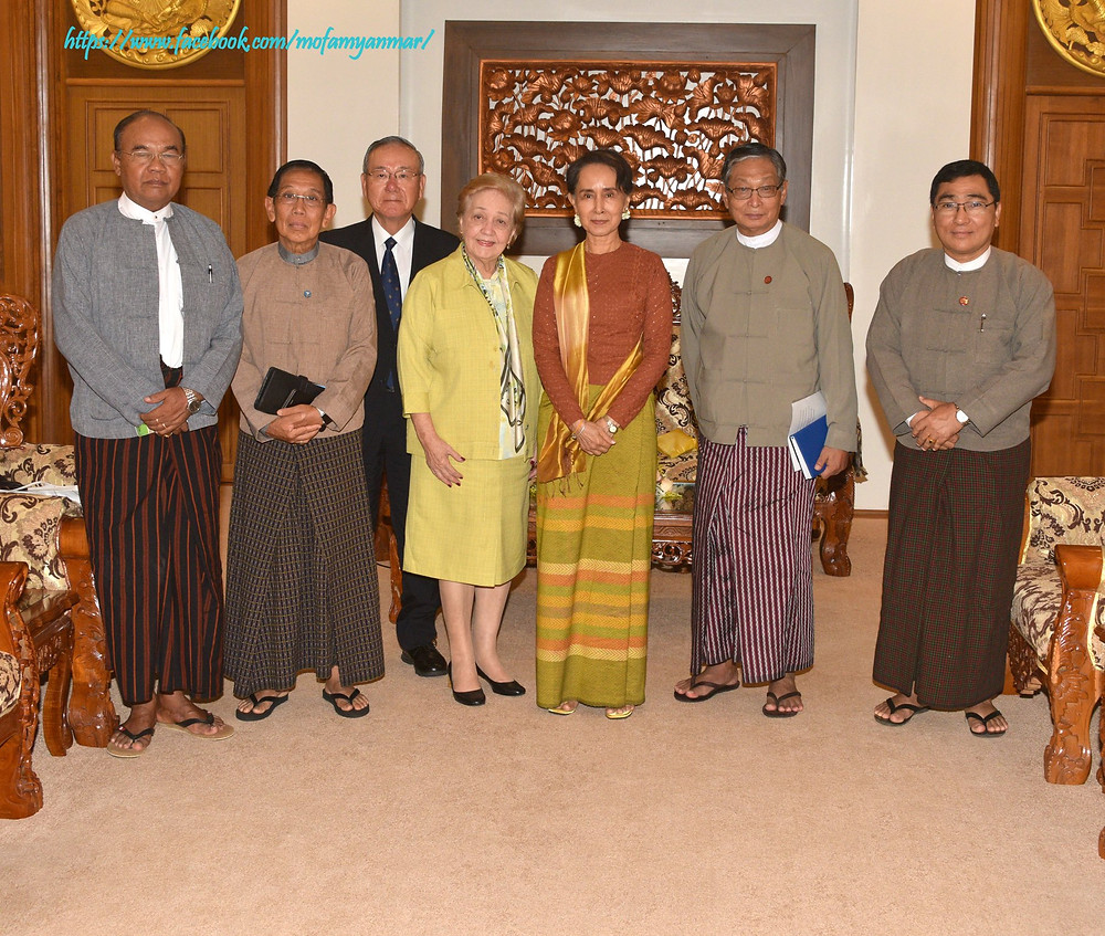 State Counsellor receives Independent Commission Of Enquiry (ICOE) Photo-mofamyanmar