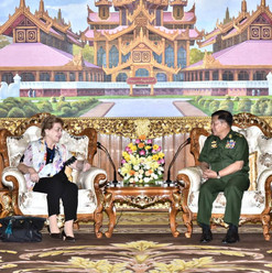Senior General Min Aung Hlaing, Commander-in-Chief of the Myanmar Armed Forces receives Independent Commission of Enquiry (ICOE) Photo- MNA