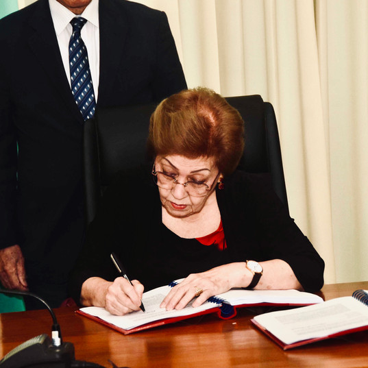 Chairperson signed the Final Report Photo-MNA
