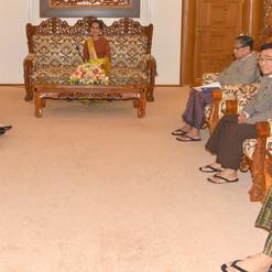 State Counsellor receives ICOE Photo-mofamyanmar