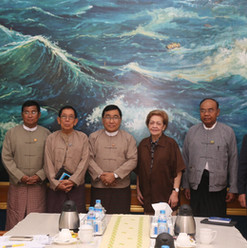 Union Minister for Social Welfare, Relief and Resettlement and Chairman of the Implementation Committee on the Recommendations of the Advisory Commission on Rakhine State, Dr. Win Myat Aye, receives Independent Commission of Enquiry (ICOE) Photo- Ministry of Social Welfare, Relief and Resettlement