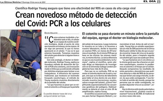 Crean novedoso método de detección del Covid: PCR a los celulares