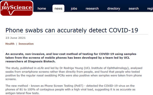 Phone swabs can accurately detect COVID-19