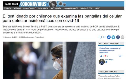 El test ideado por chilenos que examina las pantallas del celular para detectar asintomáticos con covid-19