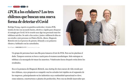 ¿PCR a los celulares? Los tres chilenos que buscan una nueva forma de detectar el Covid
