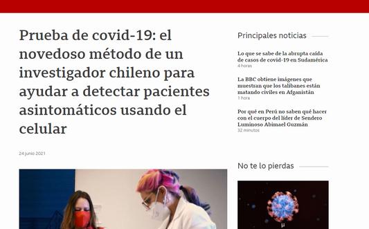 Prueba de covid-19: el novedoso método de un investigador chileno para ayudar a detectar pacientes asintomáticos usando el celular
