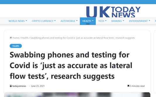 Swabbing phones and testing for Covid is 'just as accurate as lateral flow tests', research suggests