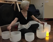 Jenny with singing bowls
