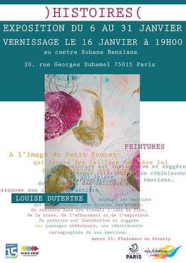 affiche expo LD au centre Sohane Benzian