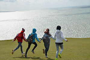 Students on Beachy Head.JPG