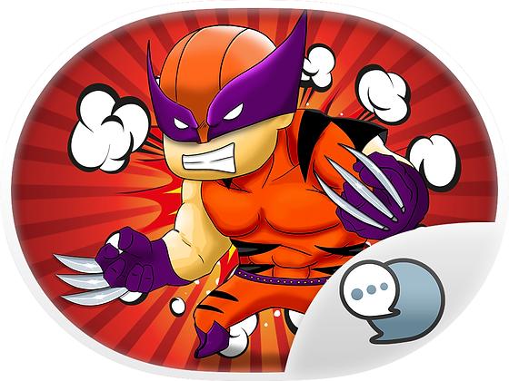 Super Hero Chibi Stickers